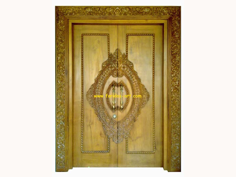 Pintu Utama - Ukir (Tameng 1)