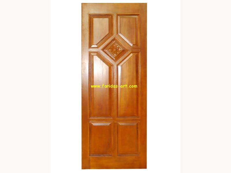 Pintu Tunggal - Ukir (Mawar)
