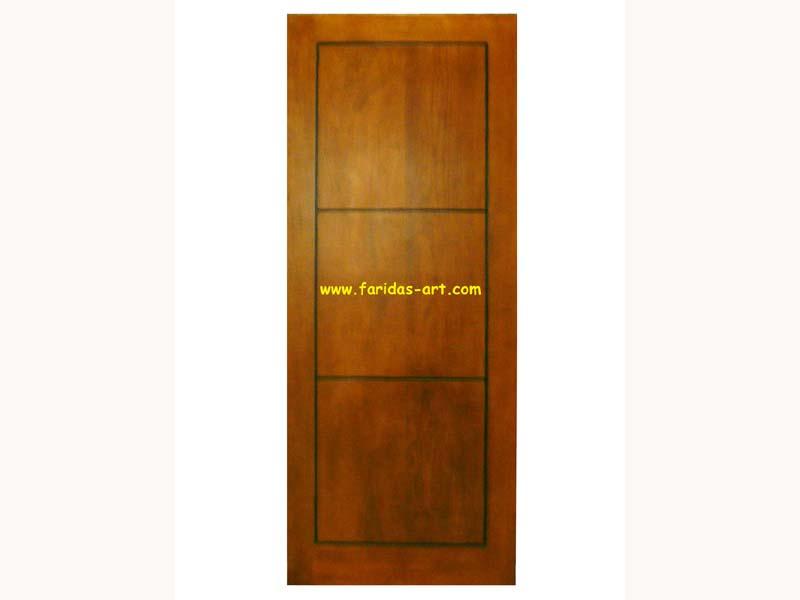 Pintu Tunggal - Minimalis (3 sekat)