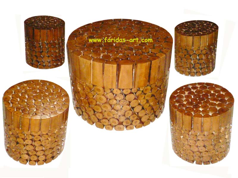 Meja Tamu Set - Drum