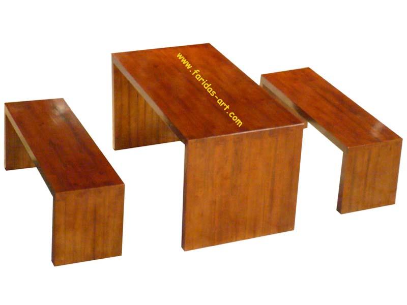 Meja Makan Set - Motif Tangga