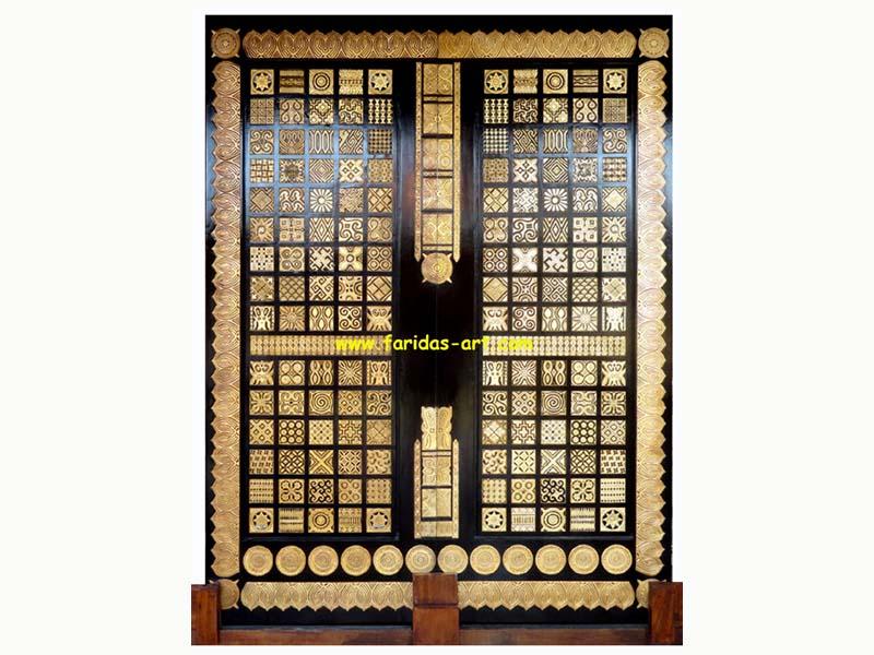 Pintu Sliding - Motif Toraja